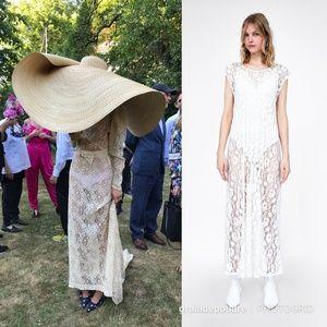 NWT Zara White Lace Pleated Wedding Dress S